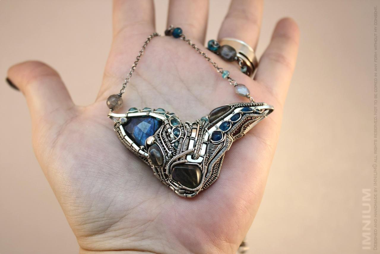 Machine necklace I by IMNIUM