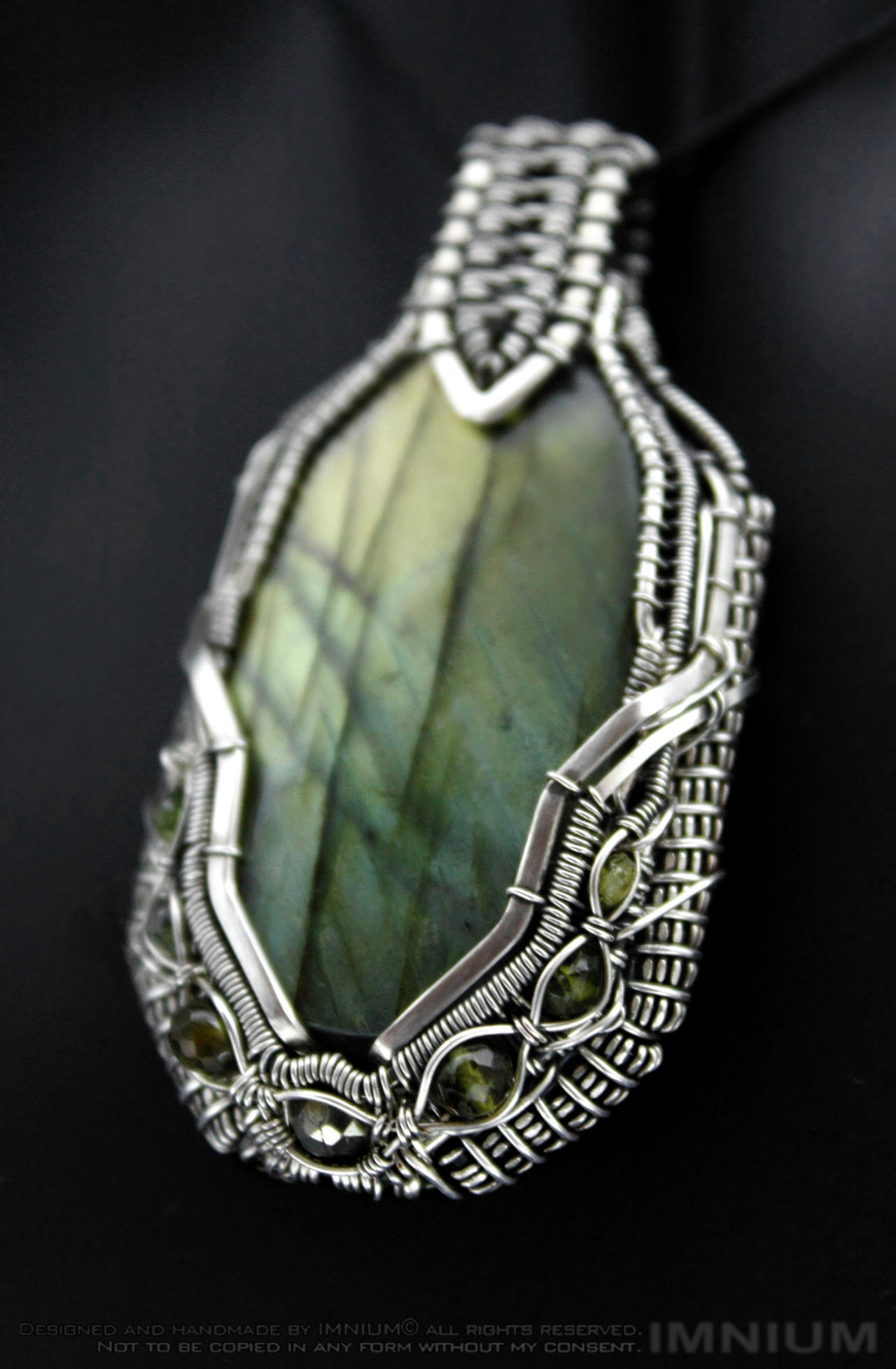 Green Borg pendant 2 by IMNIUM