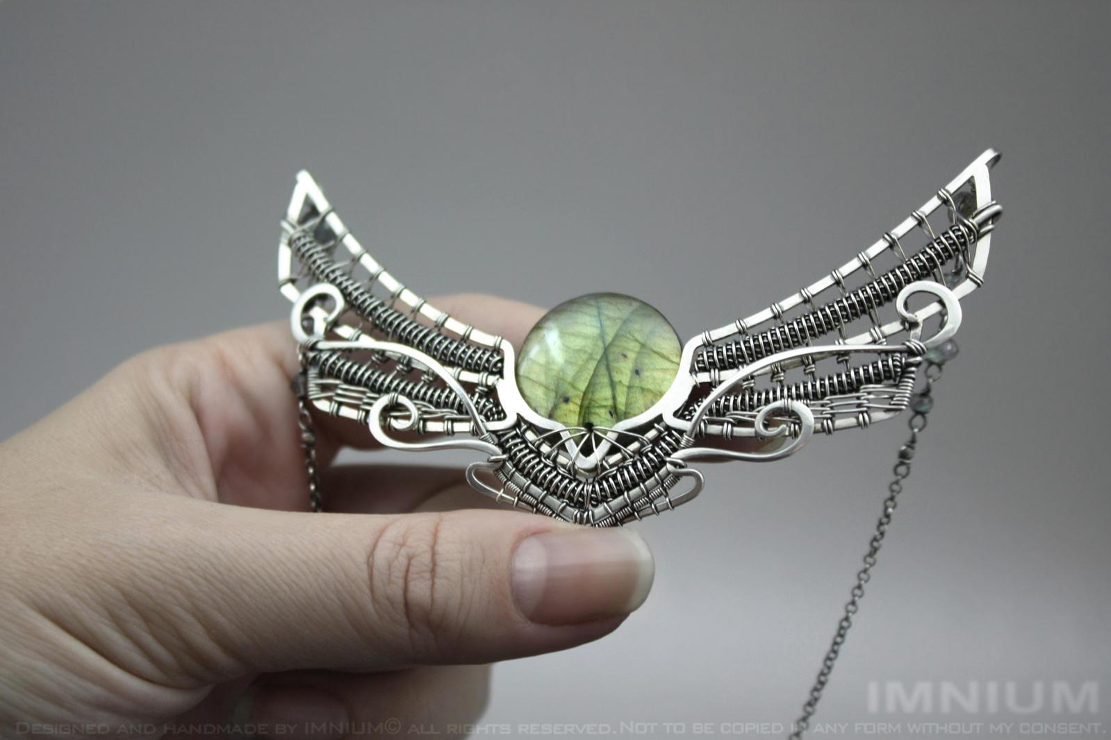 Winged sun necklace IV by IMNIUM
