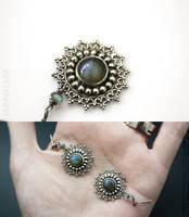 Labradorite earrings by IMNIUM