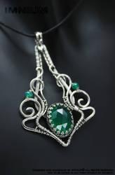 Green Onyx Pendant by IMNIUM
