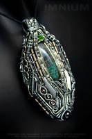 Opal monster pendant by IMNIUM