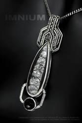 Orthoceras and onyx pendant by IMNIUM