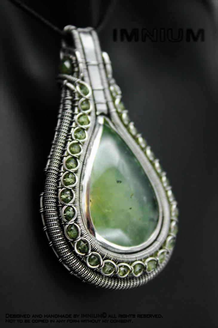 Prehnite Peridot Pendant by IMNIUM