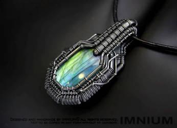 Armored labradorite pendant III by IMNIUM