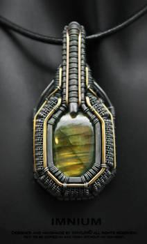 Armored labradorite pendant IV