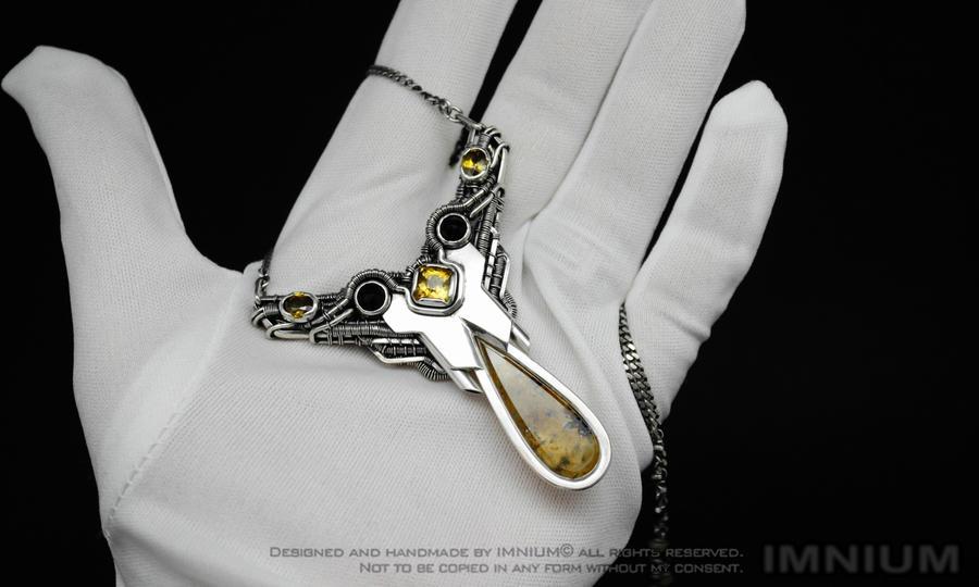 Citrine Spaceship Necklace by IMNIUM