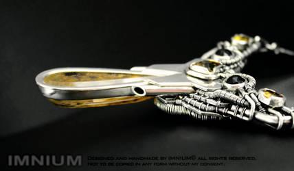 Citrine Spaceship Necklace