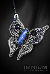 Butterfly pendant tutorial by IMNIUM