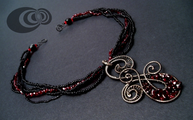 Bloody Black Swirl - view 2. by IMNIUM