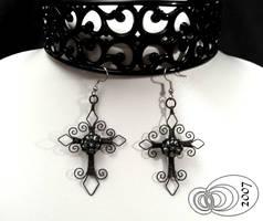 Cross Earrings by IMNIUM