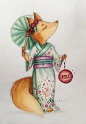 Fox in kimono by Nifka22-02