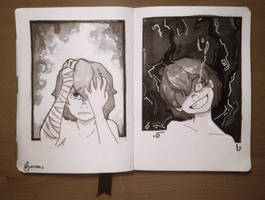 Day 2: Divided - INKTOBER 2017 by Viyodre