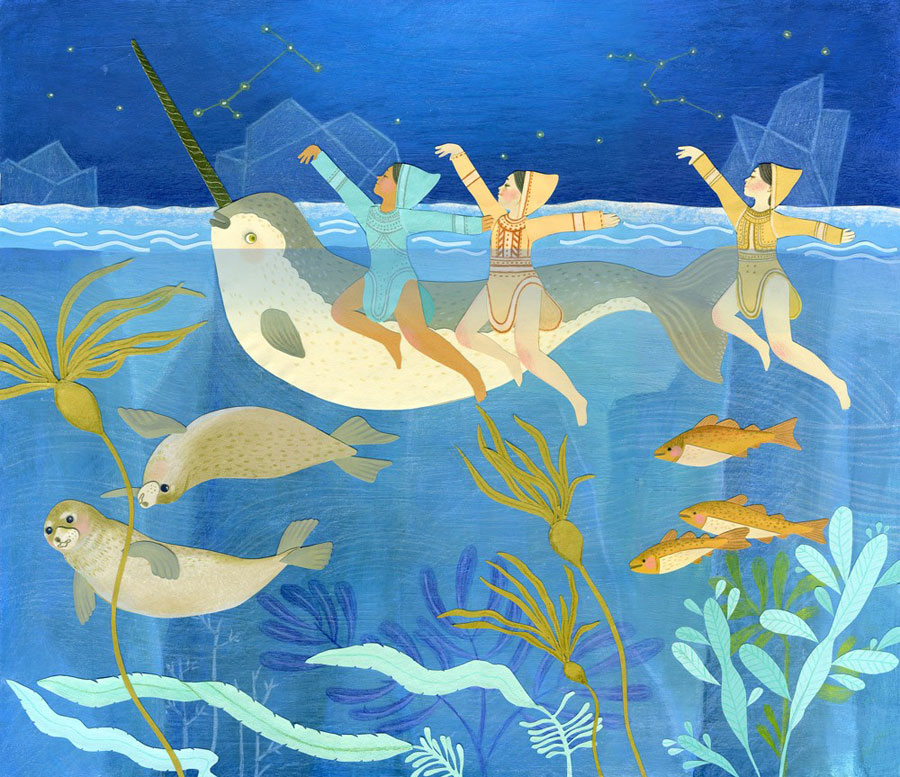Arctic Synchronized Swim by JessicaRaeGordon