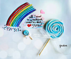 Rainbow, candies, and... by LetOurSpiritsNevrDie