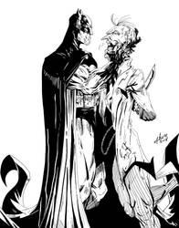 Batman and Joker by sdooley