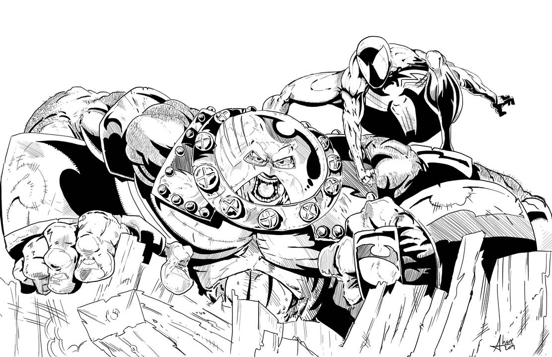 Spidey takes on the Juggernaut by sdooley