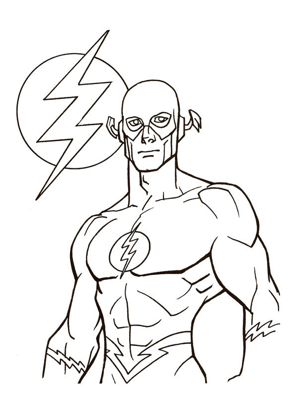 The Flash Line Art : Cw barry allen coloring pages sketch page