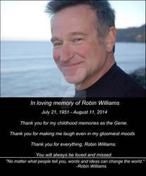 In loving memory of Robin Williams