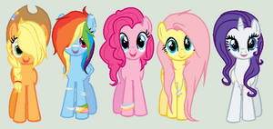 + Mane six - older and redesigned +