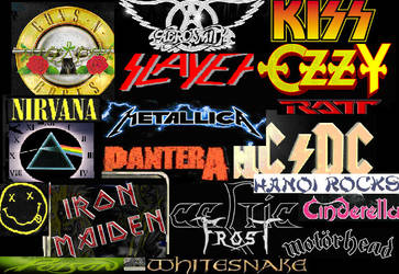 80s Rock Bands collage by Noxulf