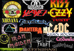 80s Rock Bands collage
