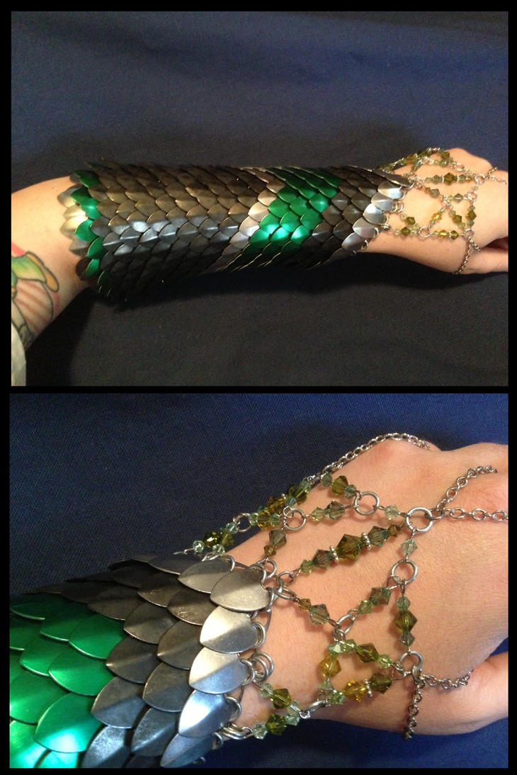 COMMISSION: Gauntlet of Elven Militia by NikidaEve