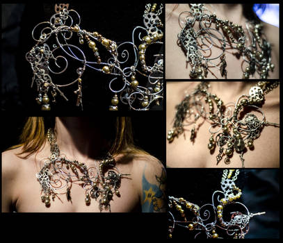 Bridal Steampunk Necklace