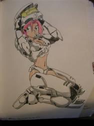 female halo spartan by NikidaEve