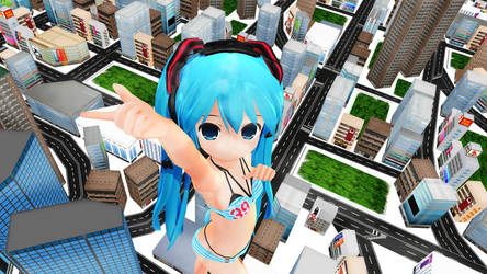 Growting Miku Dance barefoot ver by SiroUT