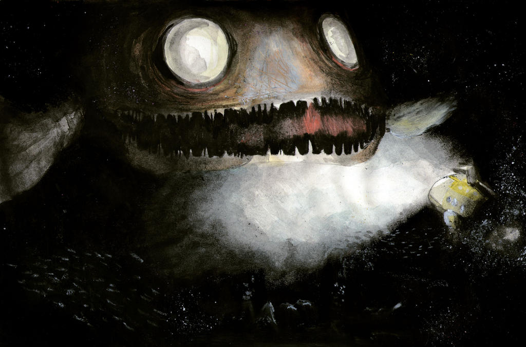 A giant abyssal fish by The-Inception on DeviantArt
