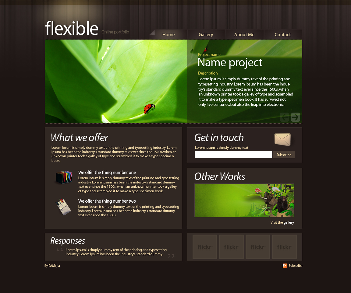 Flexible PSD Layout by EAMejia
