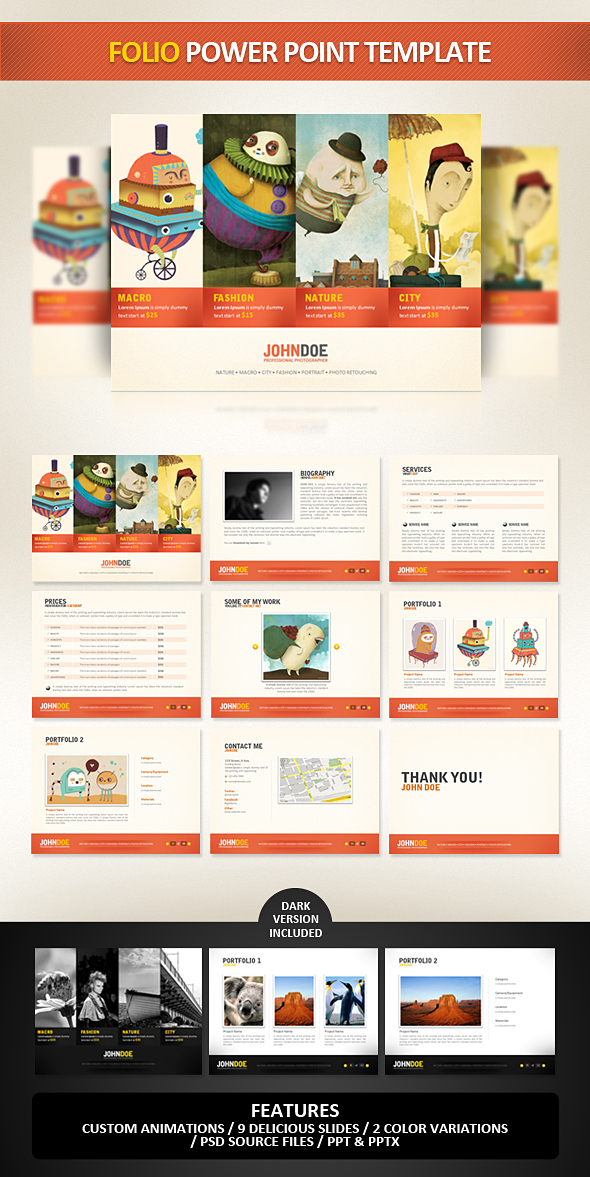 Folio PowerPoint Template by EAMejia