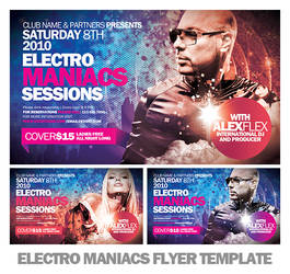 Electromaniacs Flyer Template by EAMejia
