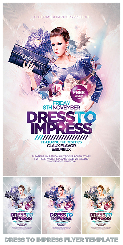 Dress To Impress Flyer Psd Template By Eamejia On Deviantart