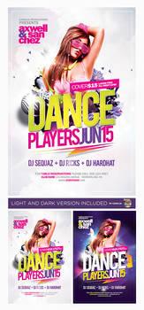 Dance Players Flyer Template PSD