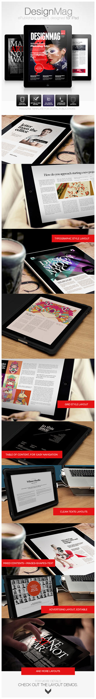 DesignMag iPad Magazine Template by EAMejia