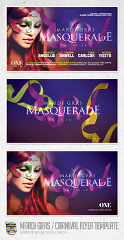 Mardi Gras and Carnival Flyer Template PSD
