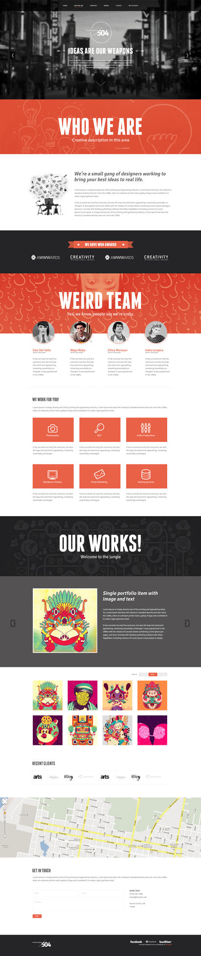 504 One Page One Page PSD Freebie by EAMejia