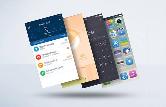 Float Mobile Display Mockup PSD Freebie