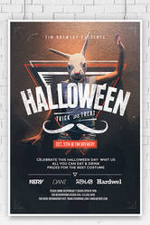 Hipster Halloween / Costume Party  Flyer Template