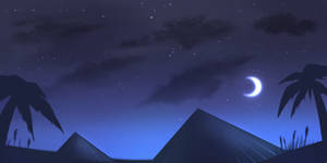 ::Free 2 use background:: Desert at night