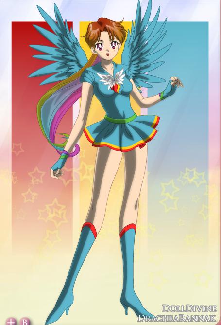 Sailor Rainbow Dash by LannaMisho