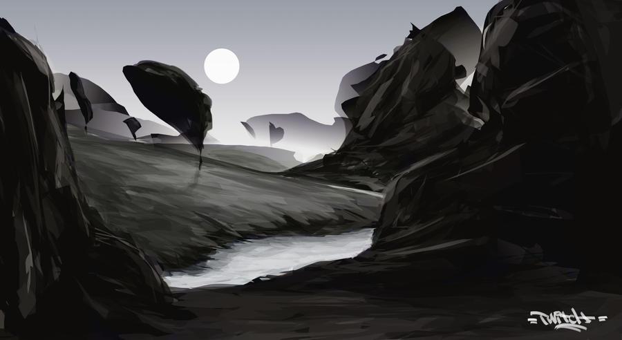 Landscape sketch by twitchx7
