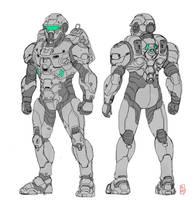 scifi armor by papillonstudio