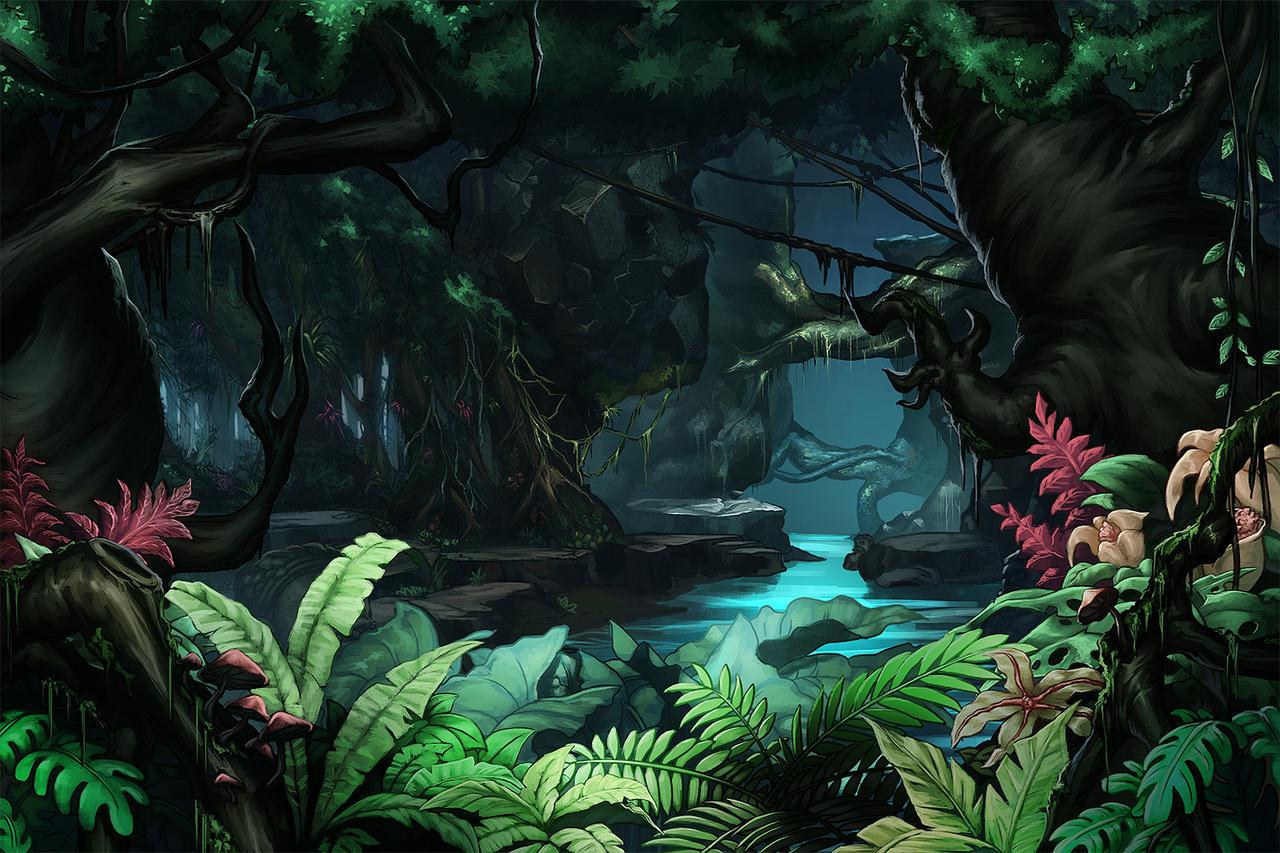 jungle background by papillonstudio on deviantart