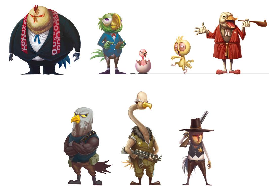 Bird Character Concept by papillonstudio