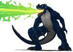 Commission: Monsturra use the Plasma Flame Breath!