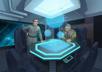 COM: Chief and Admiral in the Meeting room by papillonstudio