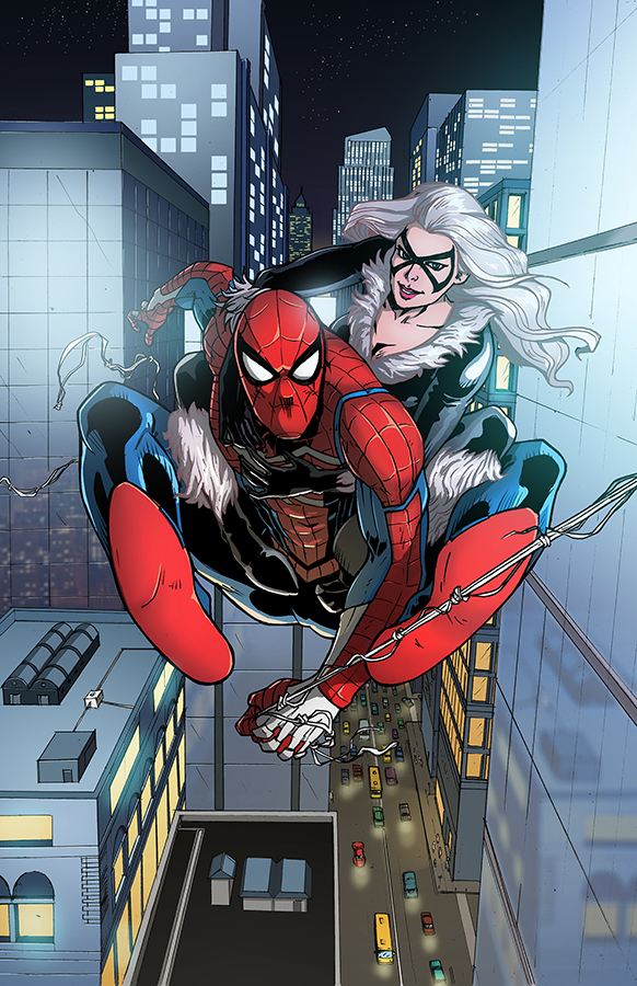 Spiderman And Black Cat By Papillonstudio On Deviantart